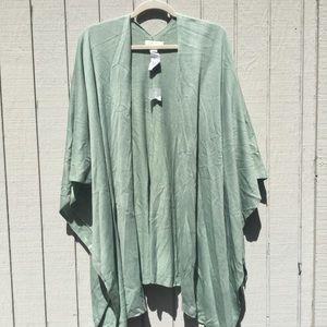 NWT mint green sleeveless cardigan